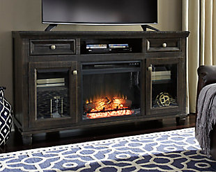 "Townser 62"" TV Stand with Fireplace, , rollover"