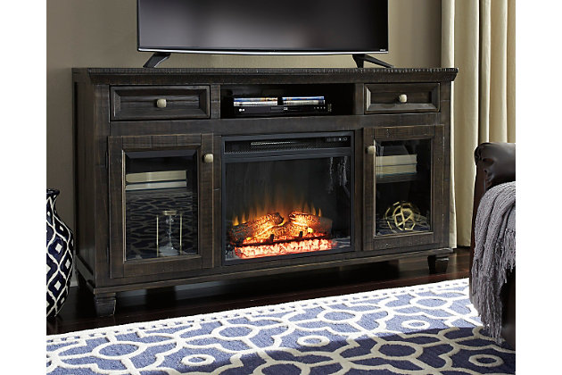 Townser 62 Tv Stand With Fireplace Ashley Furniture Homestore