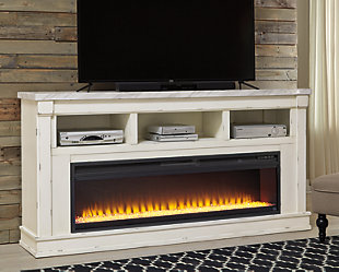 "Becklyn 74"" TV Stand with Electric Fireplace, , rollover"