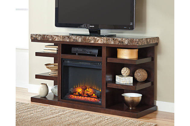 "Kraleene 60"" TV Stand with Electric Fireplace, , large"