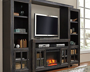 Gavelston 4-Piece Entertainment Center with Electric Fireplace, , rollover