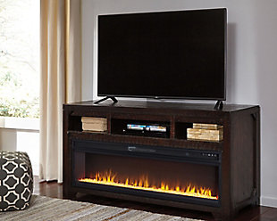 "Rogness 63"" TV Stand with Electric Fireplace, , rollover"