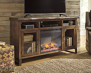 "Esmarina 62"" TV Stand with Fireplace, , rollover"
