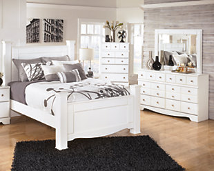 Weeki 5-Piece Queen Master Bedroom, White, rollover