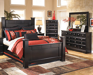 ... Large Shay 5 Piece Queen Master Bedroom, , Rollover