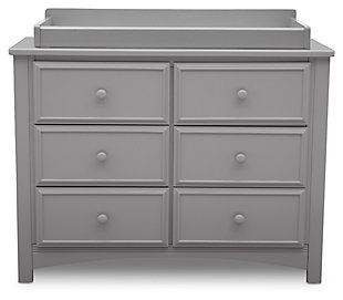 Delta Children 6 Drawer Dresser & Changing Table Top, , large
