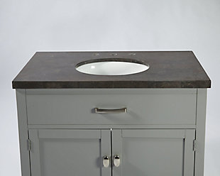 Newport Bathroom Vanity and Sink, , large