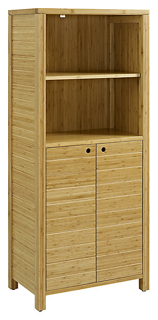Bamboo Finish Bath Storage, , large