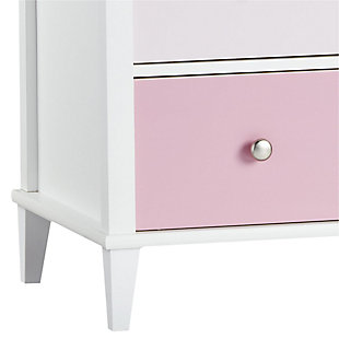 6 Drawer Monarch Hill Poppy Pink and White Dresser, Pink/White, large