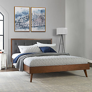 Adair Platform Queen Upholstered Bed, , rollover