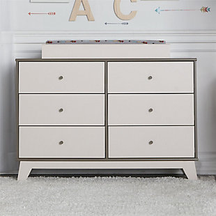 6 Drawer Changing Table, White, rollover