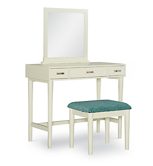 Linon Garbo Cream Vanity Set, , large