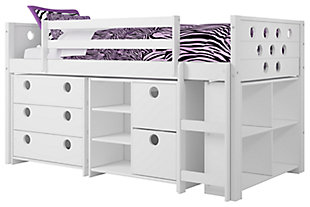 Kids Circles Twin Low Loft Bed Set, , large