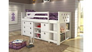 Kids Circles Twin Low Loft Bed Set, , rollover