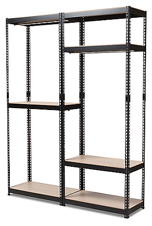 Metal Storage Shelf, Black, large