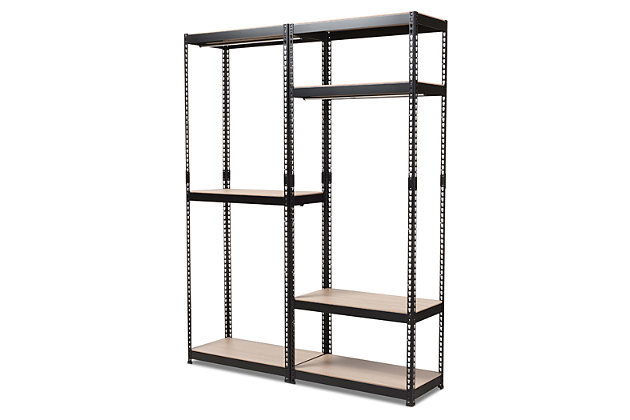 Metal 7-Shelf Closet Storage Organizer, White, large