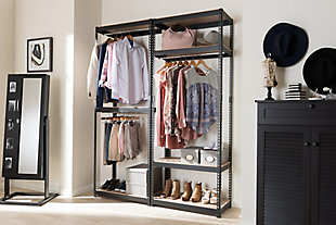 Metal Storage Shelf, Black, rollover