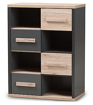Mid Century Modern 4-Drawer Storage Cabinet, , large