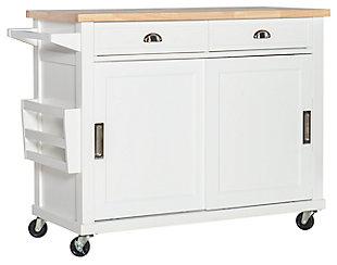 Rolling Sherman Kitchen Cart, , large