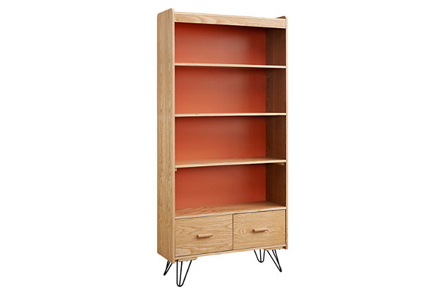 Perry Bookcase with Drawer, , large