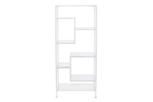 Mirelle Asymmetrical Étagère Bookcase, , large