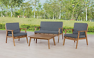 Linon Gray Outdoor Chat Set, , rollover