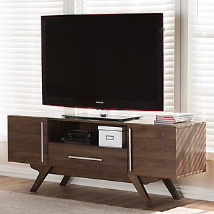 Ashfield TV Stand, Brown, rollover