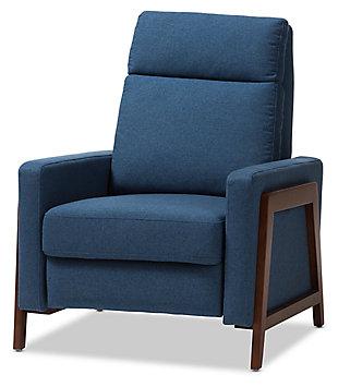 Halstein Recliner, Blue, large