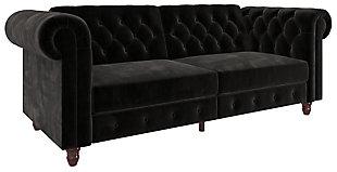 Atwater Living Fitz Sofa Futon, Black, large