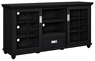 Black TV Stand, , large