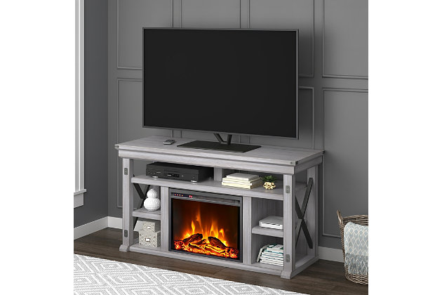 """Ameriwood Home Broadmore Fireplace TV Stand for TVs up to 60"""", , large"""