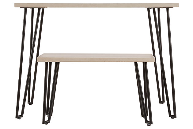 Blariden Desk with Bench, Brown/Black, large