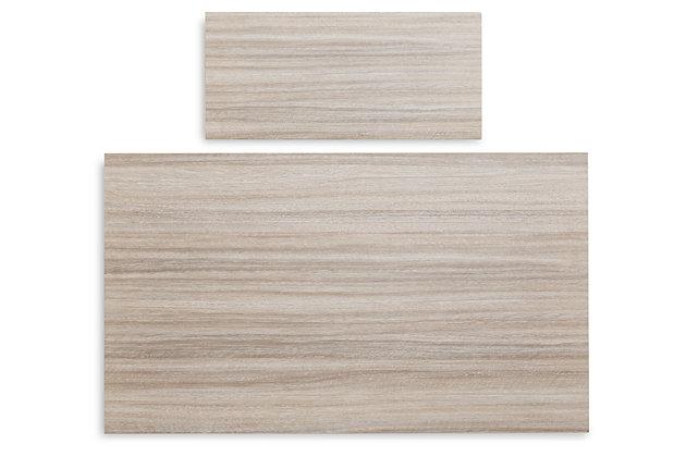 Blariden Desk with Bench, Brown/White, large