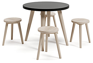 Blariden Table and Chairs (Set of 5), Black/Natural, large
