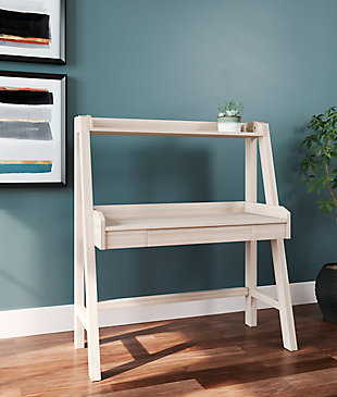 Blariden Desk with Hutch, Natural, rollover