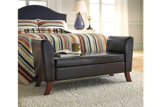 Benches upholstered storage bench ashley furniture homestore - Ashley furniture bedroom benches ...