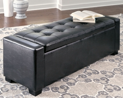 Benches Upholstered Storage Bench Ashley Furniture Homestore