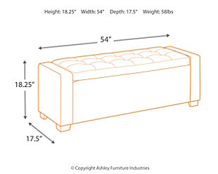 Benches Upholstered Storage Bench, , large