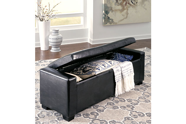 Pleasing Benches Upholstered Storage Bench Ashley Furniture Homestore Creativecarmelina Interior Chair Design Creativecarmelinacom