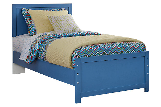Bronilly Twin Panel Bed by Ashley HomeStore, Blue