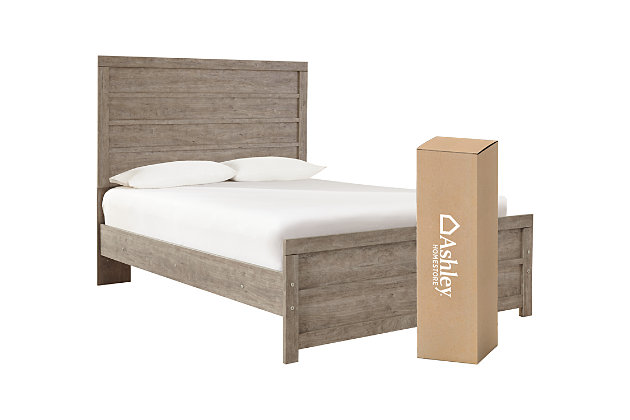 Culverbach Full Panel Bed with Mattress, Gray, large