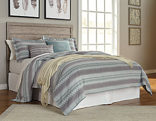 Culverbach Queen/Full Panel Headboard, Gray, rollover