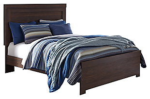 Arkaline Queen Panel Bed, Brown, large