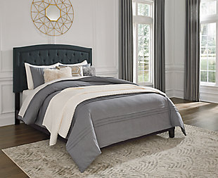 Adelloni Queen Upholstered Bed, Charcoal, rollover