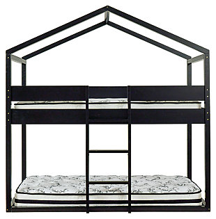 Flannibrook Twin over Twin House Loft Bed, , large