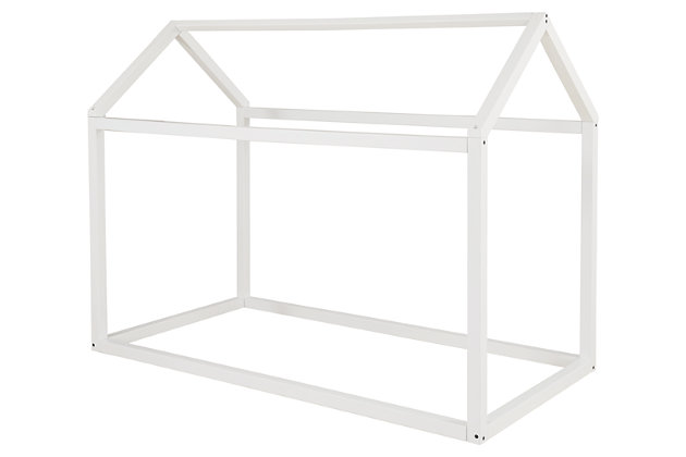 Flannibrook Twin House Bed Frame, White, large