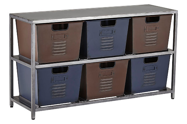 Metal Accents Accent Cabinet by Ashley HomeStore, Gray