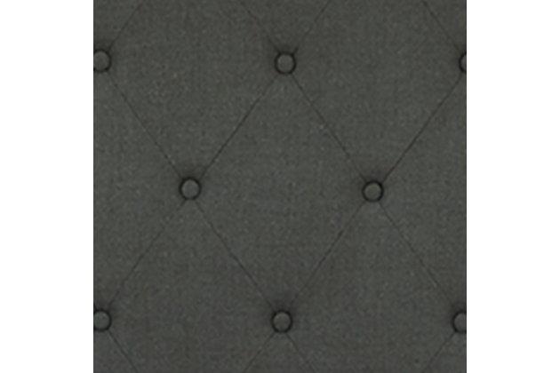 Vintasso King Upholstered Bed, Charcoal, large