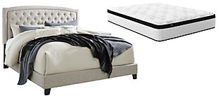Jerary Queen Upholstered Bed with Mattress, , large