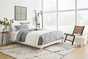 Tannally Queen Platform Bed, White, rollover